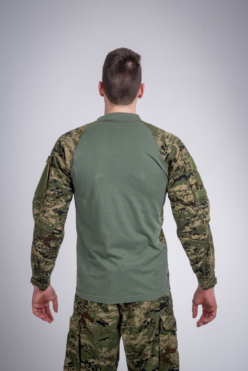 Defense shirt wood camo