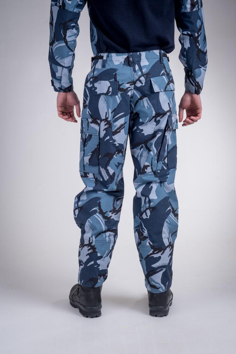 Battle pants blue camo