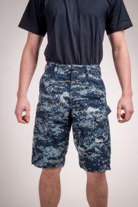 Combat pants shirt blue camo