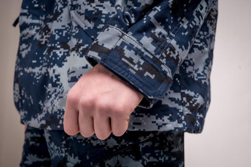 Combat jacket camo blue